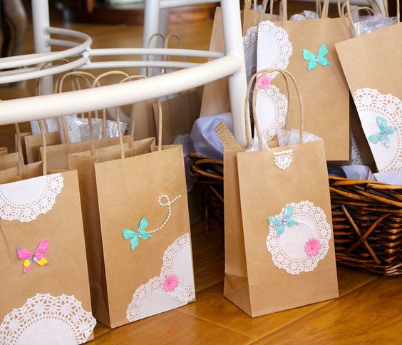 bolsas de papel kraft decoradas
